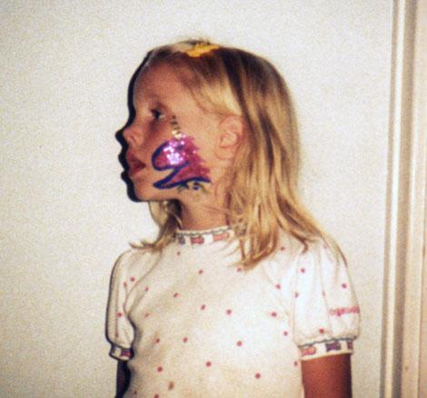 Rachel with a glitter unicorn