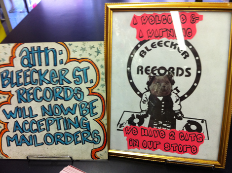 Bleeker Records sign