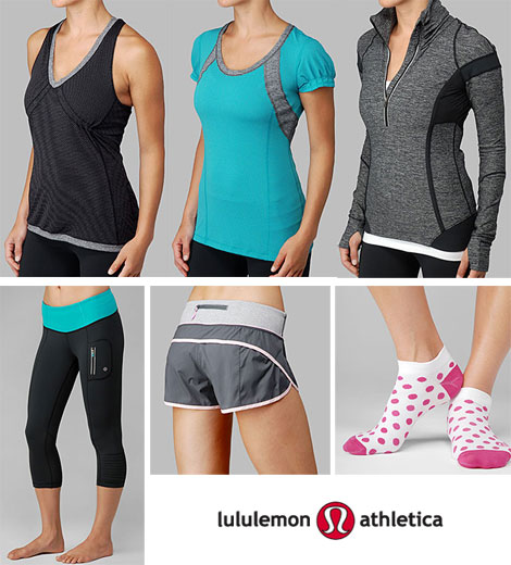 Lululemon athletic clothes