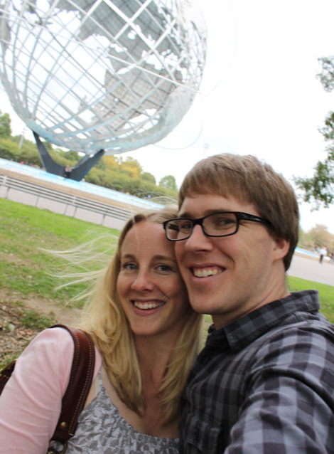 Visiting the Unisphere in Queens